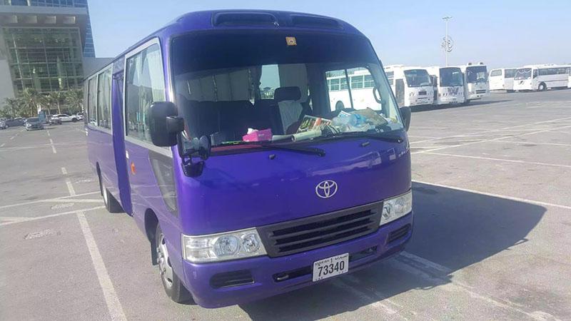 22 seater bus for rent in dubai